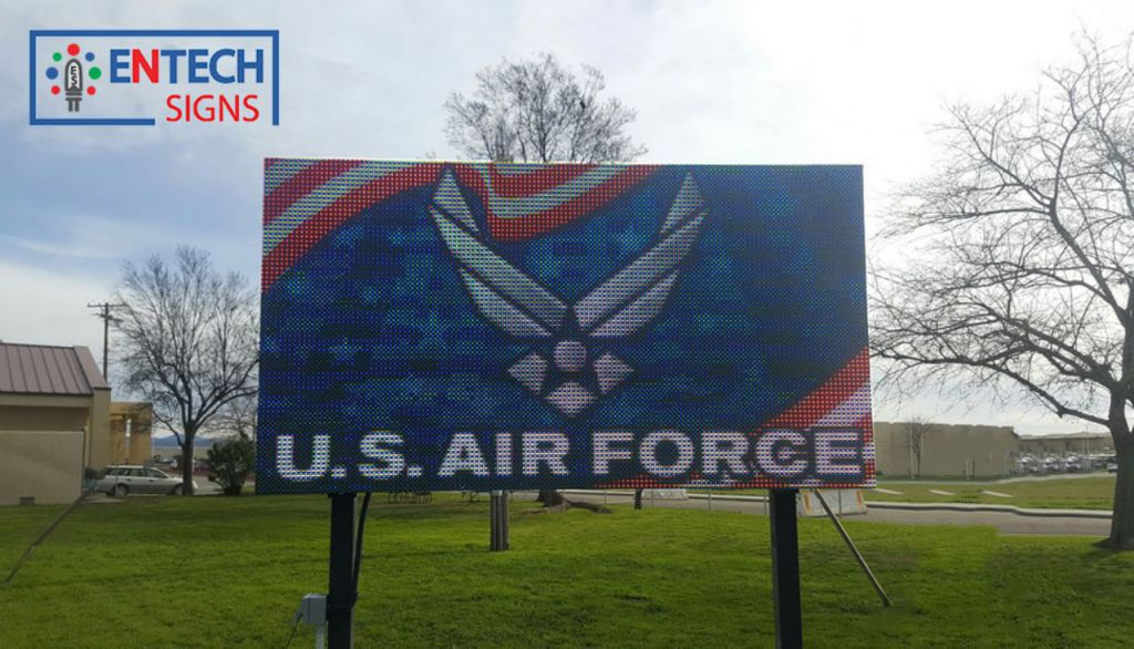 Greet Generals, Officers, and Government Officials on the Flightline with a LED Sign!