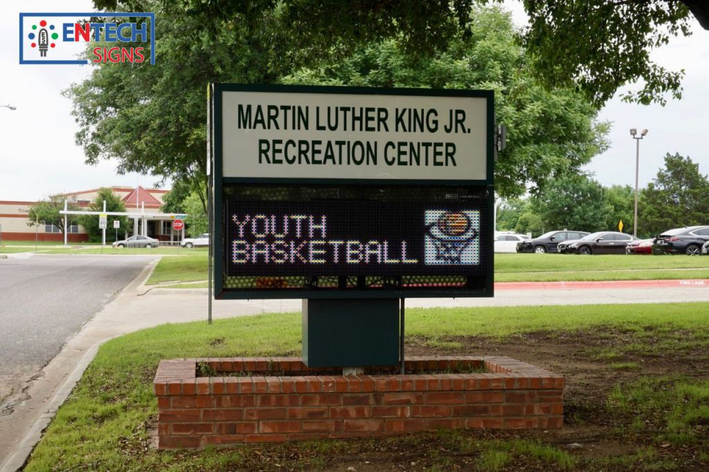 Get kids and students involved at your local Rec Center with a LED Sign!