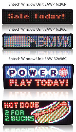 Entech Window Display Signs