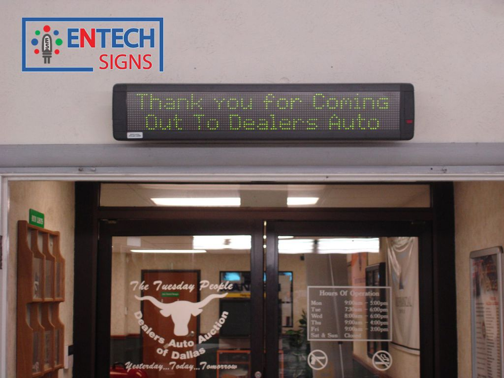 Indoor Informational LED Sign