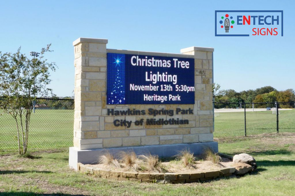 Get residents into the Holiday Spirit with a Digital LED Sign!